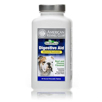 Akc Renewtrients Presents Akc Digestive Aid 100 Tablets. Akc Digestive Aid is a Specially Formulated, Veterinarian Recommended, Supplement Designed to Help Provide Enzyme Assistance for the Absorption and Digestion of Essential Nutrients in your Dog's Diet. The Supplement Aids in the Breakdown of Fats, Carbohydrates and Proteins and Helps Alleviate Skin Problems. Since 1884, the American Kennel Club has been the Nation's Leading Authority on Dogs. Each Akc Renewtrients Product has been Specifically Formulated to Provide your Companion the Optimal Nutritional Support to Bring out the Champion in your Dog. [17000]