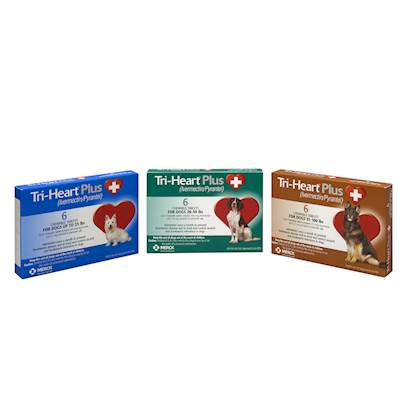 Tri-Heart Plus Brown (51-100 lbs) - 6 pack