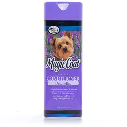 Four Paws Presents Four Paws Magic Coat Shampoos and Creme Rinses Natural Oatmeal Crme Rinse. Magic Coat Anti-Bacterial Shampoo - Magic Coat Anti-Bacterial Shampoo is Specially Formulated to Destroy Odor Causing Bacteria with Unique Fragrant Oils Such as Patchouli, Fir Needle, Lavender and Cedar Wood for a Clean and Natural Fresh Scentmagic Coat Flea &amp; Tick Shampoo (for Dogs, Cats, Puppies &amp; Kittens) - this Product has been Specially Formulated to Kill Fleas, Ticks and Lice on Dogs, Cats, Puppies and Kittens without Harming their Coat or Skin. It is a Rich, Highly Concentrated Shampoo which Leaves the Pet's Coat with a Beautiful Luster and a Fresh Scent Magic Coat Fresh Essence Crme Rinse - Magic Coat Fresh Essence Crme Rinse will Relieve all Mat and Tangle Problems from your Pet's Coat while Leaving it Beautifully Scented. A Great Companion Product to Fresh Essence Shampoo, Cologne and Freshening Spray Magic Coat Fresh Essence Shampoo - Magic Coat Fresh Essence Shampoo has a Super Cleaning and Conditioning Formula that will Leave your Pets' Coats with a Pleasant, Refreshing Fragrance that will Last. We Recommend Using in Combination with Fresh Essence Crme Rinse Magic Coat Medicated Shampoo - Tested, Proven and Accepted by Professionals as the Ultimate in Medicated Shampoos. Magic Coat Medicated Shampoo Aids in the Relief of Dandruff, Itching, Dryness, and Other Types of Dermatitis Magic Coat Natural Oatmeal Shampoo - Magic Coat Natural Oatmeal Shampoo is Hypo-Allergenic and Used by Veterinarians and Professional Groomers for the Relief of Dry, Itchy Skin. Excellent for Dogs that Require Steroid Treatment. We Recommend Supplementing with Magic Coat Natural Oatmeal Crme Rinse Magic Coat Natural Oatmeal Crme Rinse - Magic Coat Natural Oatmeal Crme Rinse Contains 20% Colloidal Oatmeal to Soothe and Condition Dry, Itchy Skin while Leaving your Pet with a Soft, Manageable Coat. We Recommend Using in Combination with Magic Coat Natural Oatmeal Shampoo. Magic Coat Protein Tearless Shampoo - Magic Coat Protein Tearless Shampoo has been Specially Formulated for Dogs and Puppies. One Application will Condition your Dog's Coat and Bring out a High Natural Luster with Never a Trace of Dulling. This Gentle Formula is Non-Irritating to Eyes and Skin Magic Coat Tangle Removing Rinse - Magic Coat Tangle Removing Rinse Relieves Matting and Tangling while it Softens and Conditions your Pet's Coat, Leaving it Manageable and Easy to Brush or Comb. 12 Oz Magic Coat Puppy Tearless Shampoo (with Aloe Vera, Protein &amp; Lanolin) - Specially Formulated to be Non-Irritating to your Puppy's Eyes, Magic Coat Puppy Shampoo Gently and Thoroughly Cleans while it Eliminates Puppy Odor. It will Leave your Puppy's Coat Lustrous, Pleasantly Scented and Easy to Manage. Magic Coat Nature's Organic Citrus Shampoo - Magic Coat Nature's Organic Citrus Shampoo Relieves Itching and Scratching Caused by Fleas, Ticks and Other Insect Bites. Conditions and Deodorizes your Pet's Coat with the a Citrus Scent Magic Coat Shampoo for White Coats - Magic Coat Shampoo for White Coats is Excellent for Brightening and Conditioning your Pet's Coat. It Brings out the Natural High Luster on any Color Coat while Helping to Eliminate Tangles. [17372]