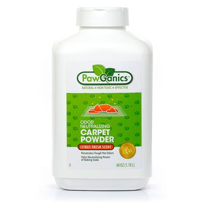 Pawganics Presents Pawganics Odor Neutralizing Carpet Powder 40oz. Tough Pet Odors Call for Tough Deodorizers, but Deodorizers don't have to be Harsh Chemicals to be Effective Against Odors and Bacteria. Pawganics Odor Neutralizing Carpet Powder Targets the Harshest Odors with a Deep Penetrating Biopesticide Baking Soda. Baking Soda, also Known as Sodium Bicarbonate, is Registered by the Environmental Protection Agency as a Biopesticide. It is a Non-Toxic Cleaning Agent that Kills Bacteria and Odors, but it is Safe Enough to Use Around Pets and Children. Whether they Stand on Two Legs or Four Legs, our Children Seem to Spend a Lot of Time on our Carpets. This Powder Deodorant will not only Replace the Odor of a Soiled Area with a Natural Citrus Scent, but it will Clean the Area Safely. [17421]