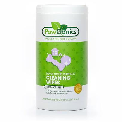 Pawganics Presents Pawganics Toys and Solid Surface Wipes. Pawganics Cleaning Wipes are Ideal for Cleaning Toys and Solid Surfaces  Hunting Down Grease, Drool, Dirt and Grime Leaving Surfaces Remarkably Clean. The Non-Toxic, Sustainable Wipes Clean Toys without Leaving a Harsh Chemical Residue Behind (your Four-Legged Family Members will Sure Appreciate This). The Cleaning Wipes Work Great on Hard Surfaces Too- You'll Want to Use them Everywhere and on Everything! Cleaning Wipes are Packaged with 100% Wind Energy and have the Same Effective Cleaning Power as Potentially Harmful, Synthetic Cleaners. [17423]