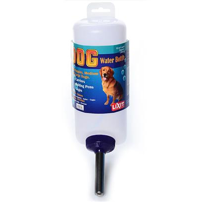 Lixit Presents Lixit Dog Water Bottle 32oz. Qt. Water Bottle for Dogs with Wide Mouth Recommended for Cages, Carriers, Kennels Wide Mouth Cap with Large Tube Stainless Steel Drinking Tube with Two Balls [17446]