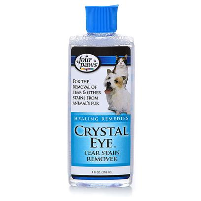 Four Paws Presents Four Paws Crystal Eye Tear Stain Remover 4oz. Four Paws Crystal Eye is Specially Formulated to Remove Tear and Other Stains from the Animal's Fur. Gentle Formula is Safe to Use on Dogs and Cats. 4 Oz. [17451]