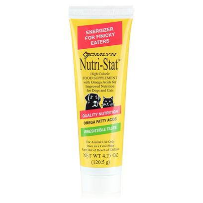Buy Nutri-Stat 4.25oz Tube Nutri-Stat is Formulated in a Low Volume Form to Provide Supplemental Caloric and Nutritional Intake when an Added Source of Energy is Required. A Very Palatable High-Calorie Gel Supplement from Tomlyn. Provides a Source of Energy and Weight-Gain During Times of Stress.Identical in Formulation to Nutri-Cal. Do not Feed to Animals under Four Weeks of Age.May be Fed from your Finger, a Dish, or the Animal's Front Paws. 4.25 Oz [17473]