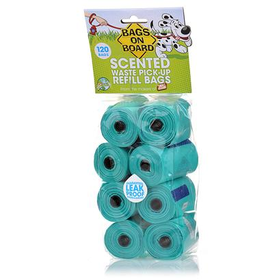 Bramton Company Presents Bags on Board Waste Pick-Up Refill Scented-8 Rolls X 120. Always Prepared with Bags on Board! With Bags on Board Scented Waste Pick-Up Refill Bags, you WonT have to Worry. The Leak-Proof, Durable Bags can Handle Even the Toughest Jobs, and Fit Conveniently in the Bags on Board Dispensers. YouLl Love the Fresh Scent! [17477]