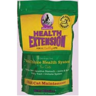 Health Extension Presents Holistic Health Extension for Cats 4 Lbs. Our Much Anticipated Cat Food has Finally Arrived! By Feeding this Natural, Super-Premium Food you have Realized that your Cat's Health is Directly Linked to the Quality of the Food you Feed. Holistic Health Extension Ingredients have been Carefully Chosen for its Nutritional Benefits Providing just what your Feline Friend Needs for a Healthy Life. We have been Offering Health Extension for over 10 Years as a Healthy, Palatable Alternative in Pet Nutrition. We are Proud to Offer you our Adult Cat Food Formulated with the Same High Standards. 4lb. [17484]