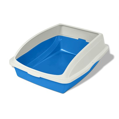 Buy Cat Pan with Cover Rim Cp4-Large Frame Helps to Contain Litter, Uses L2 and Dl2 Cat Pan Liners, Assorted Colors 19&quot; X 15 1/8&quot; X 4 1/4&quot; [17507]