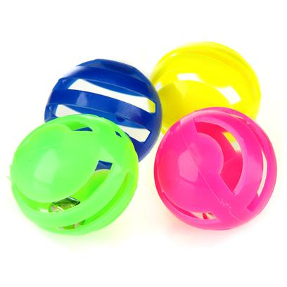 Ethical Presents Slotted Balls 4 Pack. Bright Colored Slotted Balls are Fun to Bat Around, Great Interaction. [17518]