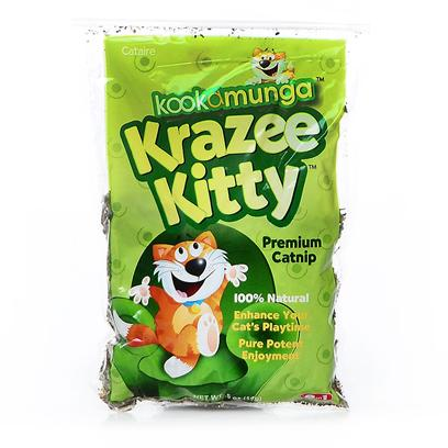 8 in 1 Presents Kookamunga Krazee Kitty Premium Cat Nip .5oz Bag. CatS Best Friend your Cat will Go Bonkers (in a Good Way) over this 100% Natural Catnip! Made with only Choice Leaves and Tops, Kookamunga Catnip Enhances Playtime and Stimulates your Cat with Potent and Irresistible Catnip Goodness. Sprinkle Catnip on the Floor, Scratch Posts, Toys, or Other Objects then Watch your Cat Go Wild! ItS the Perfect Addition to your CatS Play Routine. [17524]