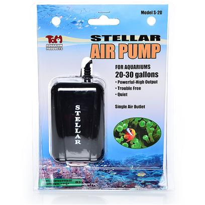 "Tom (Tominaga/Oscar) Presents Stellar Air Pump Tom S-20. Reliable and Powerful Air Pump, Up to 100 Gals. Will Pump Up to 55"" Water Depth. Two Outlets. 1) Voltage 115 V this Silent, Durable Air Pump will Provide Many Years of Trouble-Free Operation. [17561]"