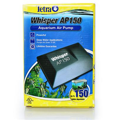 Tetra Usa Presents Tetra Ap Air Pump 150. These Whisper Air Pumps are Tetra's Most Powerful Line of Air Pumps. The Pumps are Designed for Situations that Produce Greater Back-Pressure, Such as Deep Tanks (Up to 8 Feet Deep), Long Decorator Air Stones, Multiple Air Stones in One or More Tanks, and Protein Skimmers for Saltwater. Ap 150 [17574]