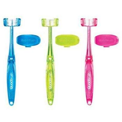 Petmate Presents Quadbrush Cat Toothbrush with Holder Bam. Makes Brushing your Cat's Teeth Fast, Easy and Safe! Uniquely Designed Toothbrush Makes Brushing Safer, Faster, More Thorough and More Comfortable. Helps Cats Live Longer, Healthier, Happier Lives. 4 Bristle Heads for a Complete Cleaning 3 Bristle Heads Surround Teeth to Clean all 3 Tooth Surface Areas in One Motion Patented! 4th Head Helps &quot;Prop&quot; Mouth Open, Softens the Bite and Cleans the Opposing Tooth Comfort Handle with Grip Reduces Slipping During Brushing Includes Brush Cover to Keep Toothbrush Clean Between Uses [17720]