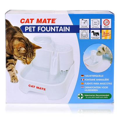 Ani Mate Presents Cat Mate Pet Fountain. The Pet Water Fountain has a Unique Design that Maximizes the Appeal of Drinking with Plenty of Water Movement to Ensure Naturally Oxygenated, Cool Water Throughout the Day. [17731]