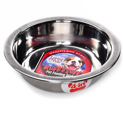 Loving Pets Presents Stainless Steel Kitty Cup 4' Lv Ss. These is an Great Dish to Use with a Litter of Kittens and Since it is Stainless Steel it is Easily Cleaned and Dishwasher Safe. [17735]