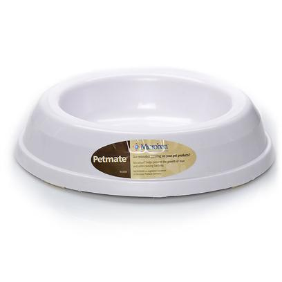 Petmate Presents Heavyweight Cat Dish 7'. Wide Base and Non-Skid Feet to Prevent Sliding. [17743]
