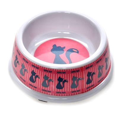 Ethical Presents Designer Kitty no-Tip Plastic Dish 5' Pink. Each Dish is Made of a Durable Plastic. The Dishes have a no Skid Bottom to Prevent Slipping. You will Love the no Tip Design. [17757]