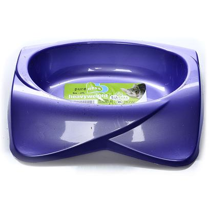 "Van Ness Presents K-7w Heavyweight Dish for Cats (New Style). K7w Heavyweight, Dishwasher Safe Cat Dish. Assorted Colors 6 3/4"" X 6 1/2"" X 1 3/4"" Capacity 11.5 Oz [17785]"