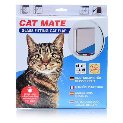 Ani Mate Presents Cat Mate Glass Fitting Flap Flap-Model 210. The Attractive Circular Styling of this 4 Way Locking Flap is Popular for Wooden Panel Doors in Addition to Glass and Acrylic. It is Particularly Recommended Fro Single/Double Glazing and Very Thin Panels/Screens * Silent Action - Won't Frighten Pet or Disturb Owner * Draught and Weatherproof Brush Sealed Flap with Magnetic Closure * Transparent Flap * Lifetime Parts Service * 3 Year Guarantee * Self Lining to 1 &quot; (30mm) Thick - Ideal for all Single/Double Glazing and any Panel from 1-30mm Thick9note for Existing Toughened/Double Glazing a New Glass Panel will be Required) * Easy to Use 4 Way Lock 9 5/8 Dia. X 9 5/8 Dia. X 1 1/8 Dia; Cats to 22lbs, Dogs to 10 Lbs; 1.08lbs [17792]