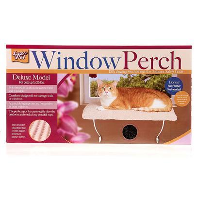Lazy Pet Presents Lp Deluxe Kitty Window Perch with Toy Pets Up to 25lbs. Extra Plush Berber Cover is Removable & Washable Crafted with Supportive Orthodedic Foam Bonus Toy Included no Tools Required [17825]