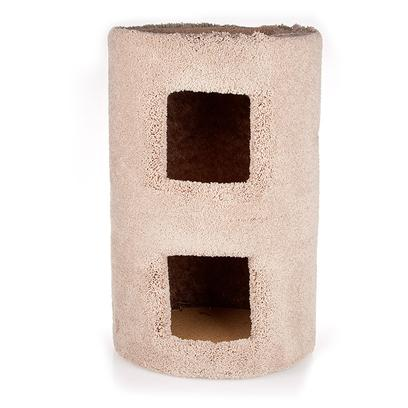 North American Pet Presents Cat Condo 1-12'. The Two Story Kitty Condo Provides Two Cozy Places for Multiple Cats to Relax. Comfortable Thick, Plush, Carpet Makes our Condo the One Kitty's Prefer. The Interior of the Condo is Blacked out for a Cool, Cave-Like Feel. Item Dimensions 13.5x13.5x24 [17828]