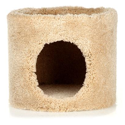 Ware Manufacturing Presents Kitty Condo Ware 1 Level. Carpeted Double Decker Cat Piece with 2 Holes. Dimensions 13.5&quot;X13.5&quot;X22.5&quot;. (Carpet Colors will Vary.) [17833]