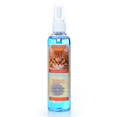 Bio Groom Presents Klean Kitty Waterless Shampoo-8oz 8oz. Waterless Shampoo for Touch Ups or Bad Weather Cleaning. Tearless, Ph Balanced, has no Alcohol and Fast Drying. So Many Uses - a Must in any Animal Care Kit. [17847]