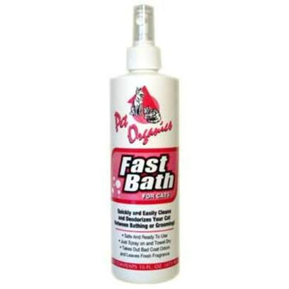 Pet Organics Presents Fast Bath for Cat 16oz. Quickly and Easily Cleans and Deodorizes your Cat Between Bathing and Grooming [17865]