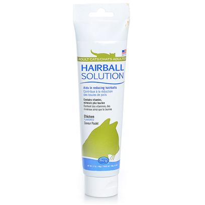 Petag Presents Hairball Solution Gel 3.5oz. Hairball Solution Gel is a Nutritional Supplement to Eliminate and Prevent Hairballs in Cats. Contains Vitamins, Minerals and Taurine. Hairball Solution Gel is an Excellent Source of Vitamins a, E, and K and is Chicken-Flavored for Great Taste. Easy to Feed from the Finger, Dish or Pet's Front Paw. Hairball Solution Gel is Available in 3.5 Oz Tube. 3.5 Oz [17906]