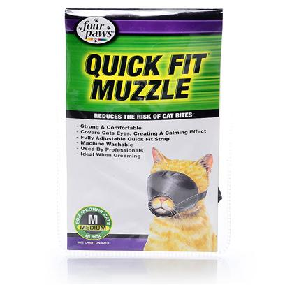Four Paws Presents Quick Fit Cat Muzzle Fp Medium. Four Paws Quick Fit Muzzles are Made of Nylon and Completely Washable. The Quick Fit Muzzles do not have a Lot of Buckles that Always Need Adjustments. Only One Initial Fitting is Needed. Small [17923]