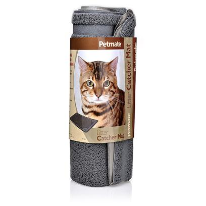 Petmate Presents Litter Catcher Mat Half Circle (23.5'l X 14'w). Litter Round-Up Mat [17956]