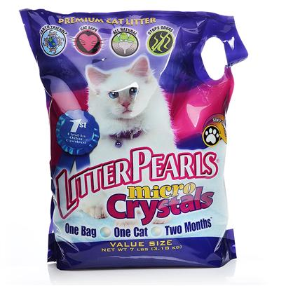 Harvest Ventures Presents Ultra Pet Litter Pearl Micro Crystals 7lb Bag. The Newest Innovation from the Company that Introduced North America to its First Silica Cat Litter is Litter Pearls Micro Crystals. Like all the Other Fine Products from Litter Pearls the New Micro Crystals are Made from High Quality Ingredients that Deliver Superior Results. Litter Pearl Micro Crystals are Different because they are Soft on the Cats' Paws while Offering Superior Absorption and Odor Control. Each Small Silica Gel Crystal is Able to Absorb its Weight in Urine. The Silica Gel will then Let the Moisture Evaporate while Trapping the Odor Controlling Substances Inside the Crystals. Keeping the Litter Box Odor Free for a Month is as Simple as Daily Removal of Solid Waste from the Litter Box and a Few Moments Spent Stirring and Raking the Silica to Turn the Crystals so Those on the Bottom are Brought to the Top to Aid the Evaporation Process. [17960]
