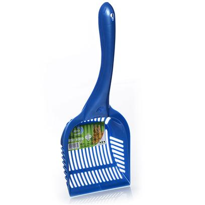 Van Ness Presents Long Handled Extra Giant Plastic Litter Scoop. Ideal for Clumping Litter. Easy Grip Handles and Made of High Impact Plastic [17984]