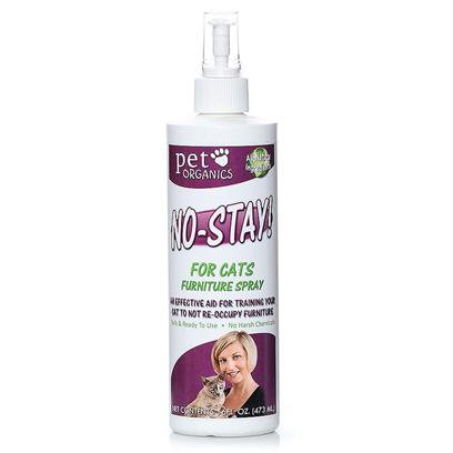 Pet Organics Presents no-Stay Furniture Spray for Cats 16oz. An Effective Aid for Training your Cat to not Re-Occupy Furniture [17992]