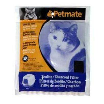Petmate Presents Basic Zeolite Filters Large. Reduce Litter Box Odor; Specially Developed Activated Charcoal Air Filters Fit into Grill Inserts on Specially Designed Litter Box Hoods. 2 Sizes [18039]