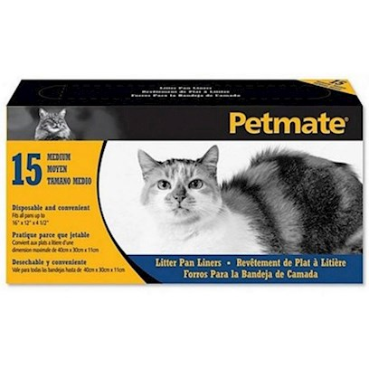 Petmate Presents Litter Pan Liners Small/Medium. 28.5 X 11.5, Contains 15 Each Clear [18049]