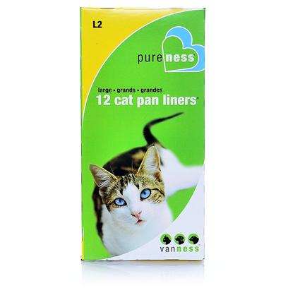 "Van Ness Presents Van Ness Pan Liners Vness Liner L2 Large 12 X Pack. 8 Liners Per Box, Fits Cp3 & Cp6 Cat Pans 35"" X 18"" X 1.01 Mil. Thick [18053]"