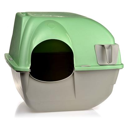 Omega Paw Presents Omega Paw Roll 'N Clean-Self-Cleaning Litter Box Regular. Owning a Cat just Got Easier. The Omea Paw Roll N Clean Litter Box Scoops your Cats Poops into a Tray to Make Disposing of Waste Simple. Cats Love the Freshness and youLl Love how Much Easier your Life Is. Instead of Scooping out your CatS Litter all you Need to do is Roll the Top of the Box and it Scoop out Clumped Litter into a Tray. You then Simply Remove the Tray and Dispose of the Clumps as you Normally Would. No More Sifting through the Litter Box, Omega Paw Roll N Clean Litter Box does it for You! [18064]