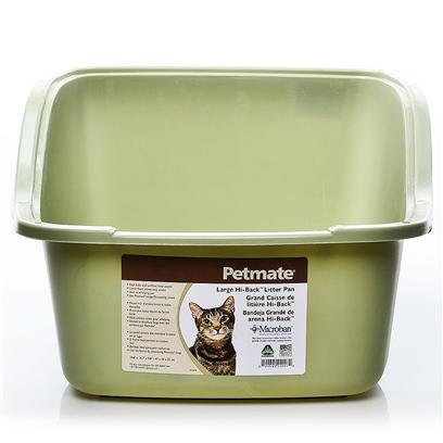 Petmate Presents High Back Litter Pan Jumbo. Large (18.6 X 14.7 X 9.8) Planet Blue/Pure White/Black [18072]