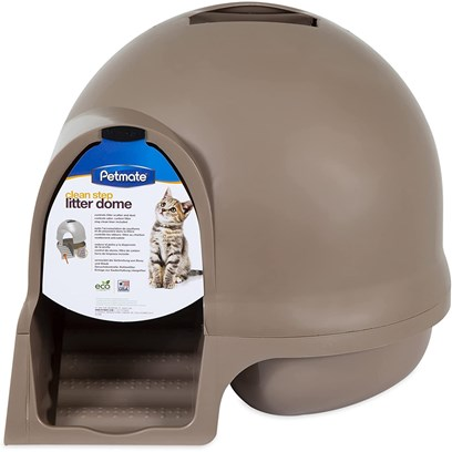 Petmate Presents Booda Dome Clean Step Litter Box Titanium. [18087]