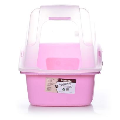 Petmate Presents Designer Hooded Pan Set Jumbo. Translucent Hooded Cat Litter Box. [18095]