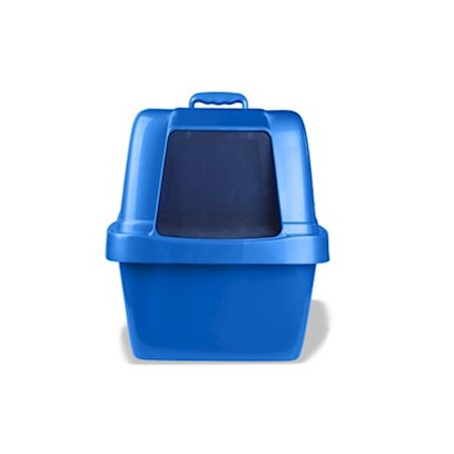 "Van Ness Presents Van Ness Cat Pan with Hood Vness Transl Catpan Large (Lg). For Multiple & Large Cats, 3 Way Odor Protection - Door, Hood, & Filter, Uses Dl7 & Dl7-15 Van Ness Cat Pan Liners and Two F6 Odor Control Filters. Available in Translucent Blue and Pink 22"" X 18 1/2"" X 18"" [18106]"
