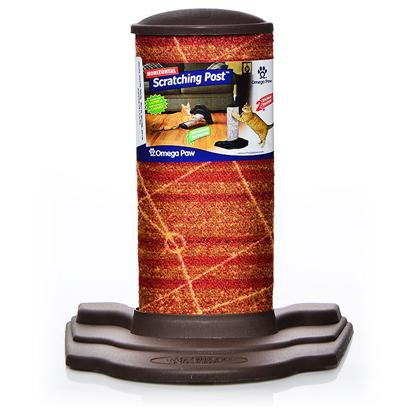 Omega Paw Presents Horizontal Scratch Post. The Horizontal Scratching Post is Designed to be Used Vertically or Horizontally. The Strong Construction and Durable Carpeting Stand Up to Daily Cat Scratching. Dimensions 14.5&quot; X 12&quot; X 10&quot; [18141]