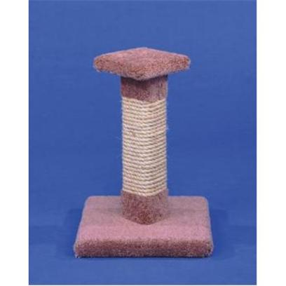 Ware Manufacturing Presents Kitty Cactus 18' Cat Post with Sisal &amp; Top Sisal/Top. Carpeted Scratching Post with Sisal and Square Top. Dimensions 13&quot;X13&quot;X18&quot; (Carpet Colors will Vary.) [18159]