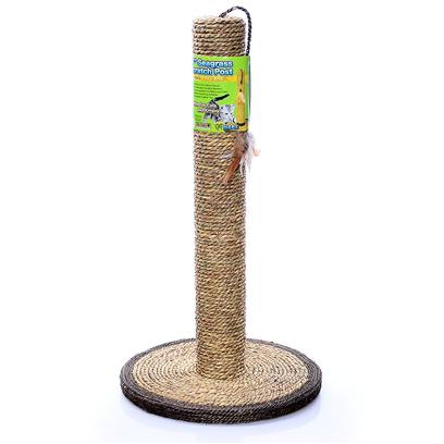 Ware Manufacturing Presents Seagrass Scratcher 18' Cat Post Ware Scratch. New and Natural Twist to Cat Scratch Post Seagrass Provides Aromatically Appealing Scratch Surfaces Natural Feather Toy Included Replacement Toys Available #00928 Cattachment Assorted Ribbons/Feathers and #00927 Cattachment Assorted Critters [18161]