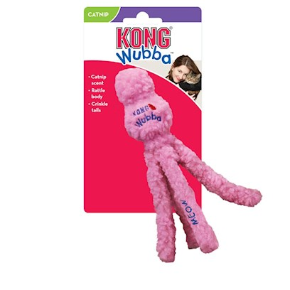 Kong Company Presents Kong Cat Wubba. The Ultimate Cat Toys. The Original Cat Wubba was Inspired by Kong's Popular Wubba Dog Toy and is the Perfect Size for Batting Around. [18226]