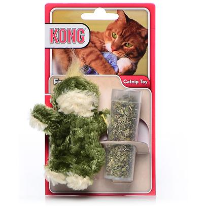 Kong Company Presents Kong Catnip Squirrel. Dr. Noys' Cats with an Attitude Toys are Filled with only the Finest Catnip Available on the Market. And, as a Bonus, you can Open the Patented Hidden Closure and Refill the Toy with our Mess-Free Tnips Catnip Packets After the Old Catnip has Lost its Strength. [18232]