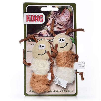 Kong Company Presents Kong Natural Crinkle Toys Ball with Feathers. Natural Products for Natural Instincts Made with Natural Materials Natural Catnip [18241]