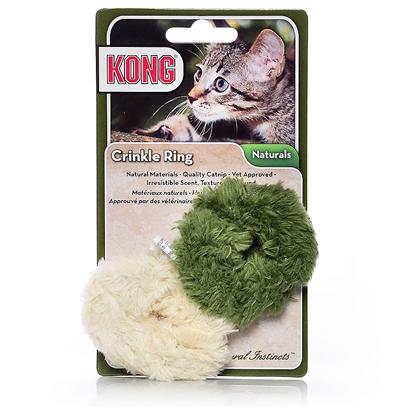 Kong Company Presents Kong Natural Crinkle Ball Cc41 Nat. Natural Products for Natural Instincts Made with Natural Material Made with North-American Grown Catnip [18246]
