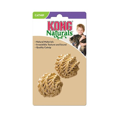 Kong Company Presents Kong Natural Straw Ball Staw. Natural Products for Natural Instincts Made with Natural Sisal Natural Catnip [18249]