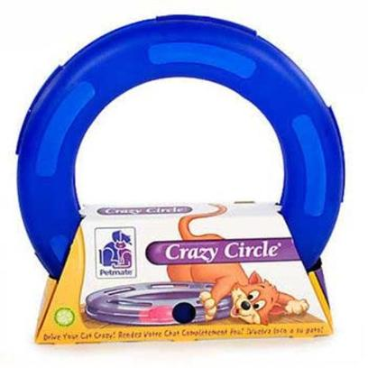 Petmate Presents Petmate/Booda Crazy Circle Petmate Small. Petmate Crazy Cat Circle Teaser Toy. A Favorite for Playful Kittens and Cats, a Ping Pong Type Ball Contained in Hollowed Rounded Plastic Tube with Slots for their Paws Offers Hours of Safe Fun. Large [18253]